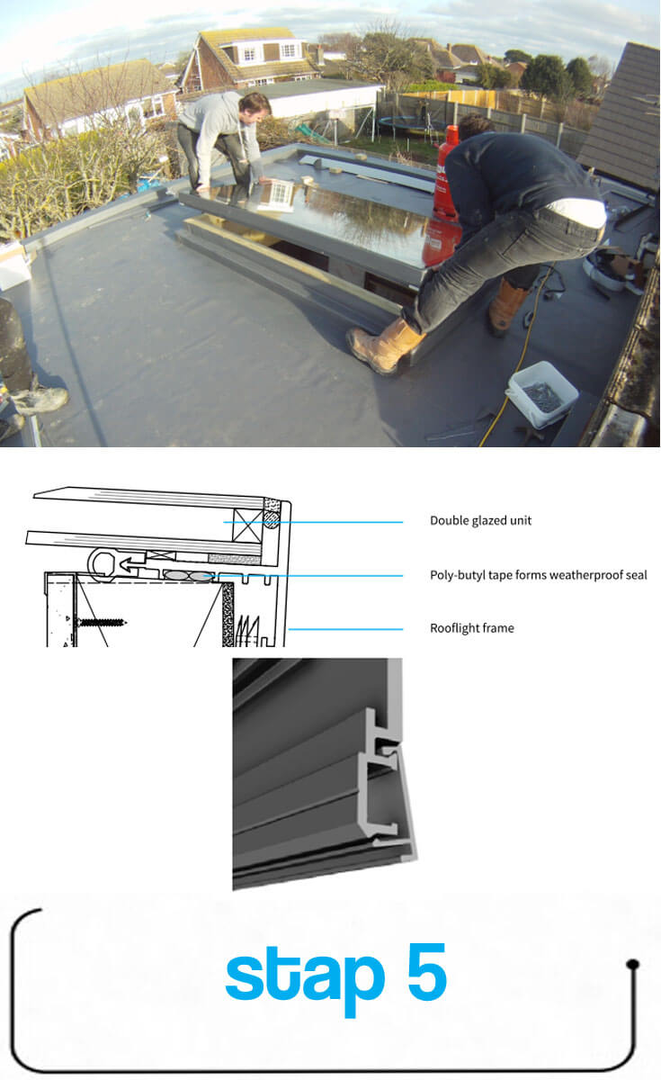 Paso 5: Colocar la ventana de techado