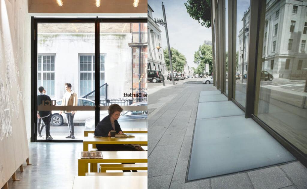 Techos de vidrio hechos a medida a lo largo del edificio