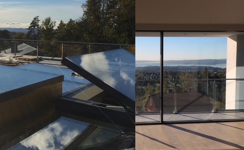 techo de cristal de vidrio transitable