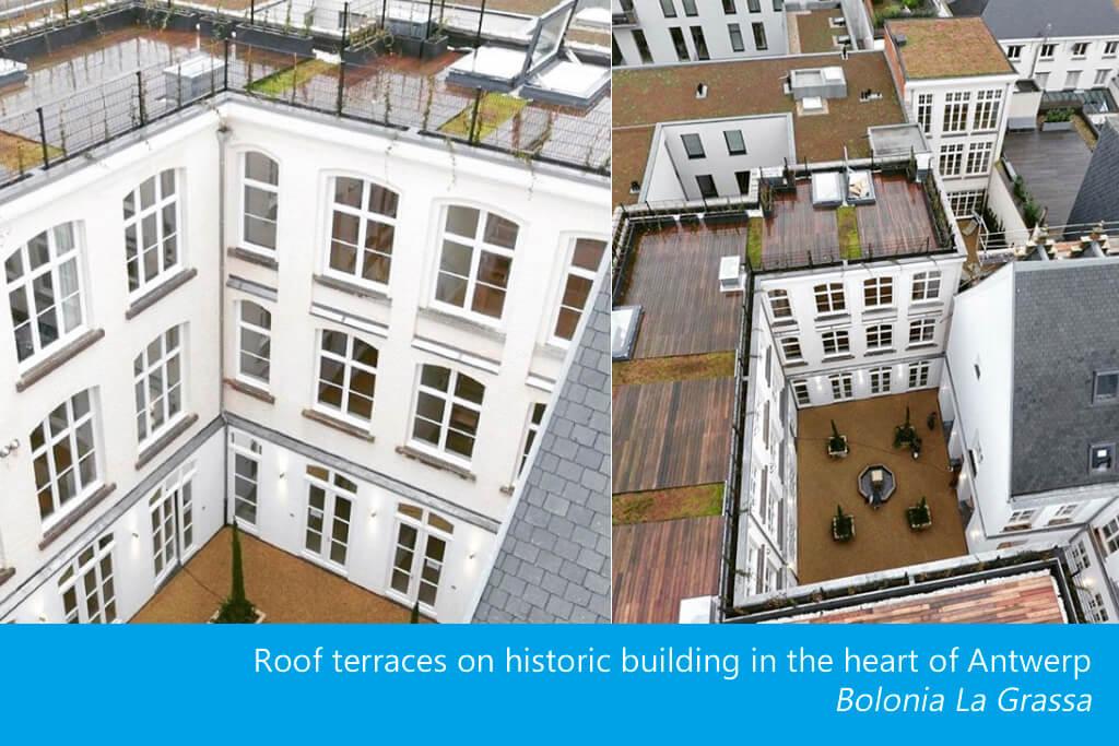 Una trampilla de tejado eléctrica da acceso a una hermosa terraza
